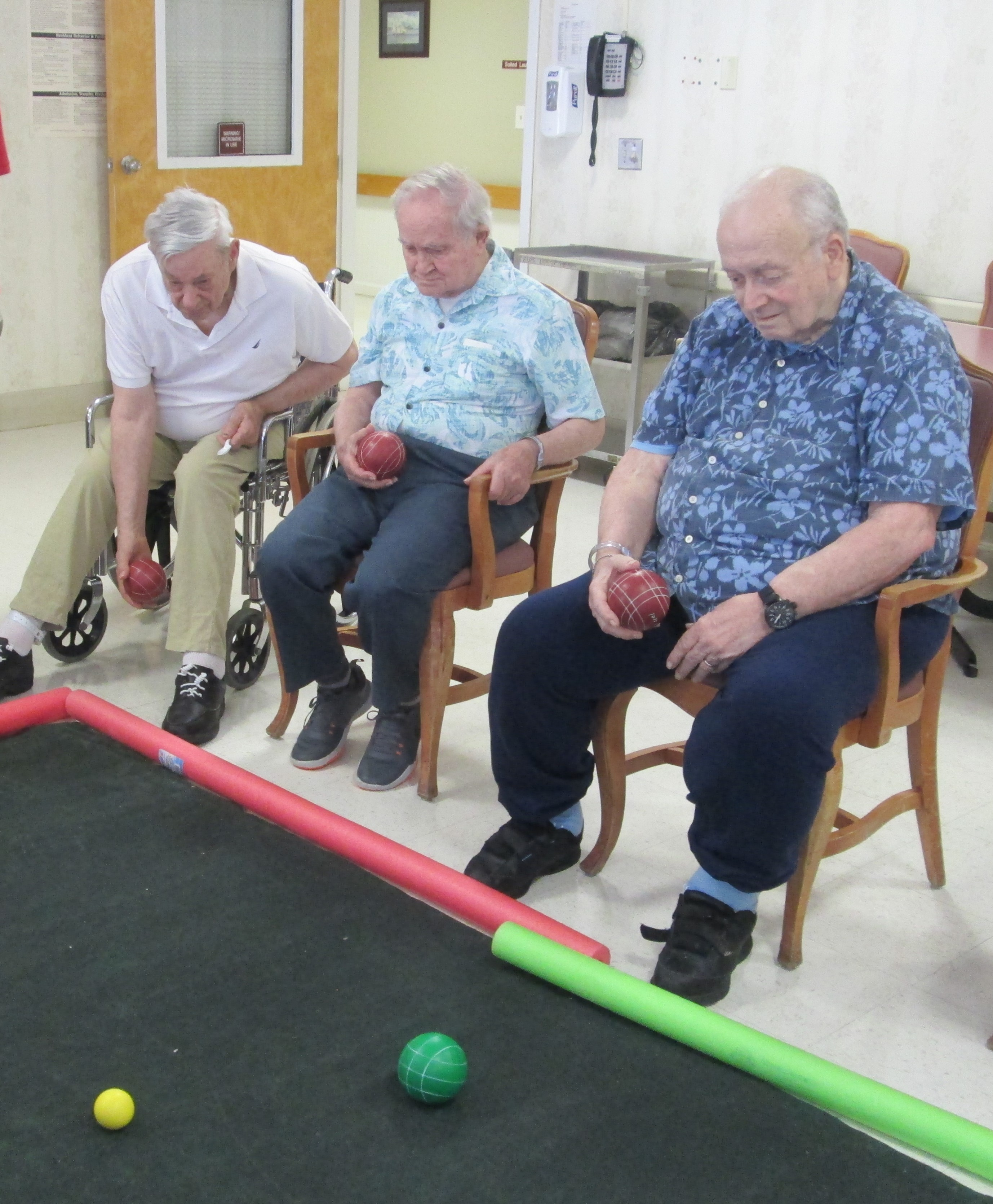 Residents Playing Bocce